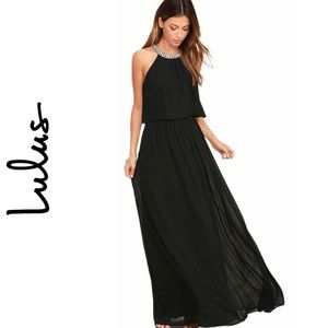 Lulu's What a Feeling Black Maxi Dress